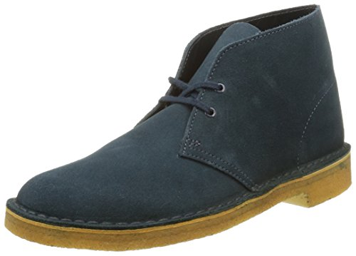 Clarks Originals 261094447 Scarpe stringate Desert Boot, Uomo, Blu (Midnight Suede), 45