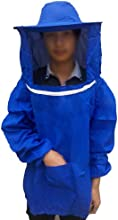 Apicultura Apicultor Chaqueta Traje Velo Abeja Protector Vestido Bluson Azul
