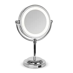 modern silver round led make up vanity dressing table