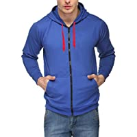 Scott International Full Sleeve Hooded Unisex Royal Blue Sweatshirt