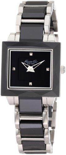 kenneth-cole-kc4742-ceramic-montre-femme-quartz-analogique-cadran-noir-bracelet-acier-noir
