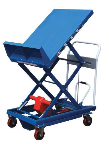 "Vestil Cart-600-Lt Steel Lift And Tilt Cart With Sequence Select, 600 Lbs Capacity, 36"" Length X 24"" Width Platform, 14"" - 35"" Height Range"