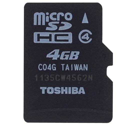 Toshiba Micro SDHC Memory Card 4GB
