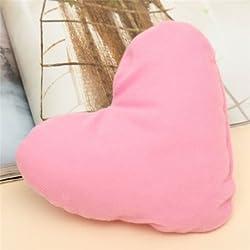1PCS Heart Shape Soft Cozy Plush Little Pillow Decorations Pet Dog Puppy Cat Toy - Pink