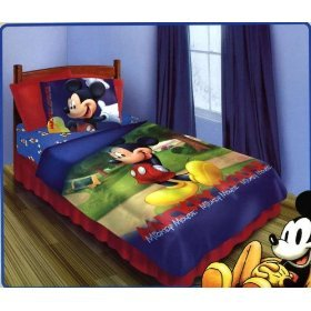 Disney 3pc Bedding Set - Mickey Main Street Twin Comforter Set