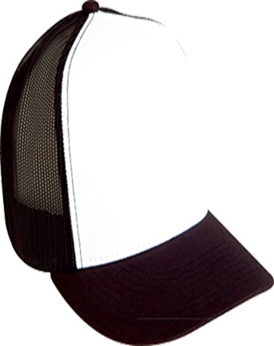 Yupoong 6006W Classic Two Tone Trucker Cap - White/Black -