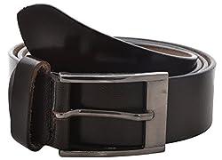 Fashno Men's Faux Leather Belt (FCMDR - BL - 06, Black, Free-Size)