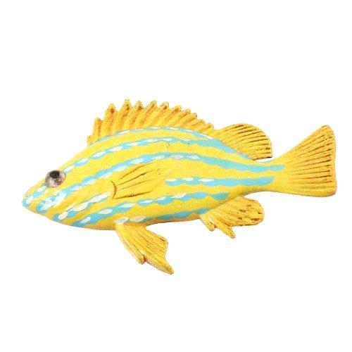 Blau Gelb Kunststoff Fisch Stil magnetischen Aufkleber für Kühlschrank Kühlschrank