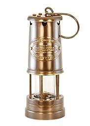 Oil Lantern - Antique Brass Coal Miners Lamp - 9\