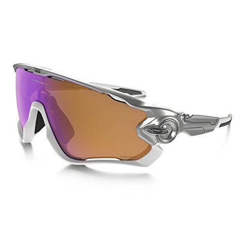 Oakley JAWBREAKER-Gafas de sol (oo9270-09) Color Plateado y Blanco Mate 31-131-121