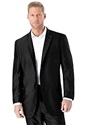 Easy Movement Two-Button Jacket, Black Big-56