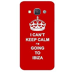 Skin4gadgets I CAN'T KEEP CALM I'm GOING TO IBIZA - Colour - Red Phone Skin for SAMSUNG GALAXY A3