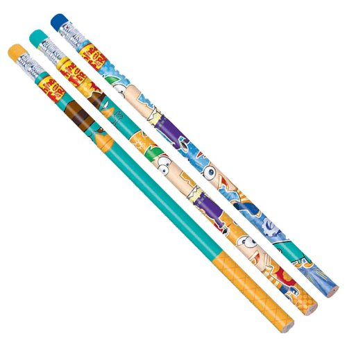 Disney Phineas and Ferb Pencils (12) (Aqua) Party Accessory