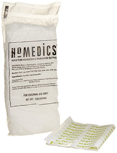 HoMedics PAR-WAX-THP Paraffin Bath Replacement Paraffin Pearls with 20 Plastic Liners (Homedics Bath compare prices)