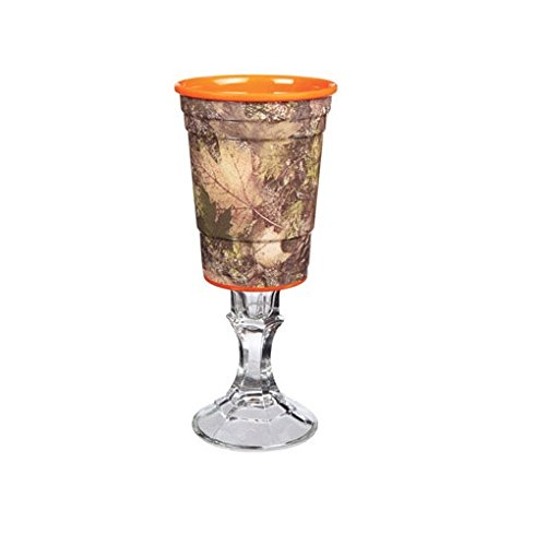 Carson Home Accents Rednek Team Spirits Party Cup, 16-Ounce, Camo and Orange