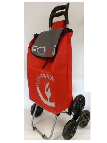 Chariot de course 2 fois 3 roues - cooking rouge - 110085