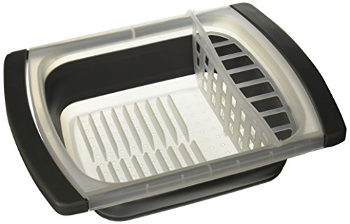 Progressive Collapsible Over-The-Sink Dish Drainer
