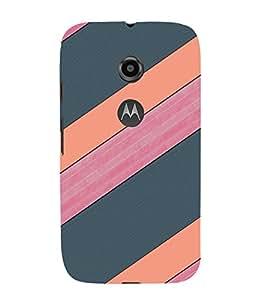 EPICCASE pink and grey Mobile Back Case Cover For Moto E 2nd Generation (Designer Case)