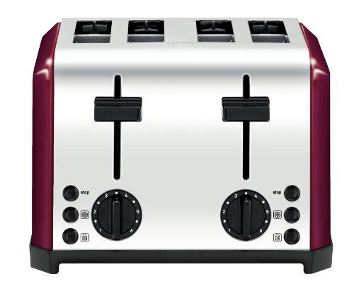 Tefal Tt543715 Inox Raspberry 4 Slice Toaster by Tefal