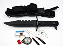 Hunting / Diving Steel Survival Scuba Knife w Sheath