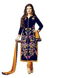 khodiyar fashion blue color salwar suit