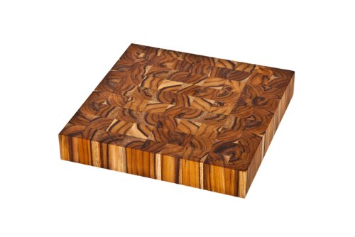 Proteak Square 12 by 12-Inch by 2-Inch Chopping Block, End Grain