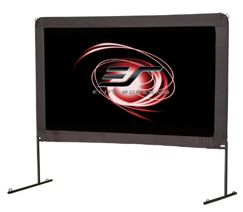 Elite Screens Yard Master Series, Outdoor Portable Light Weight Movie Screen, Front Projection, 100-inch 16:9, OMS100H