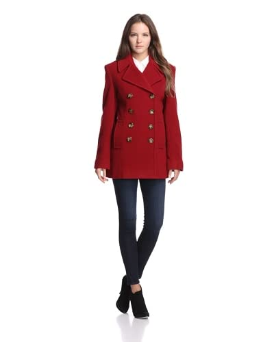Jones New York Women's Classic Peacoat  - Red