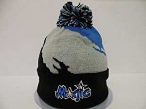Mitchell and Ness Authentic NBA Orlando Magic Toque Cuffed Knit Beanie with Pam by Mitchell & Ness
