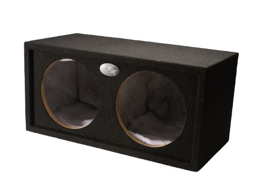 Absolute Usa Dss15L Sealed Dual Subwoofer Car Truck Bass Box, Black