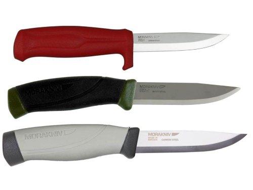 Bundle - 3 Items: Morakniv Craftline Q Allround 511 Carbon Steel Knife, Morakniv Companion Mg Carbon Steel Knife, Morakniv Craftline Highq Robust Carbon Steel Knife
