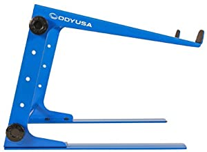 Odyssey LSTAND BLU Blue Adjustable DJ Laptop Stand + Case/Table Clamps That Can Be Configured 3 Ways