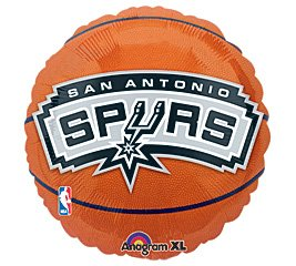 Anagram International Hx San Antonio Spurs Flat Party Balloons, Multicolor