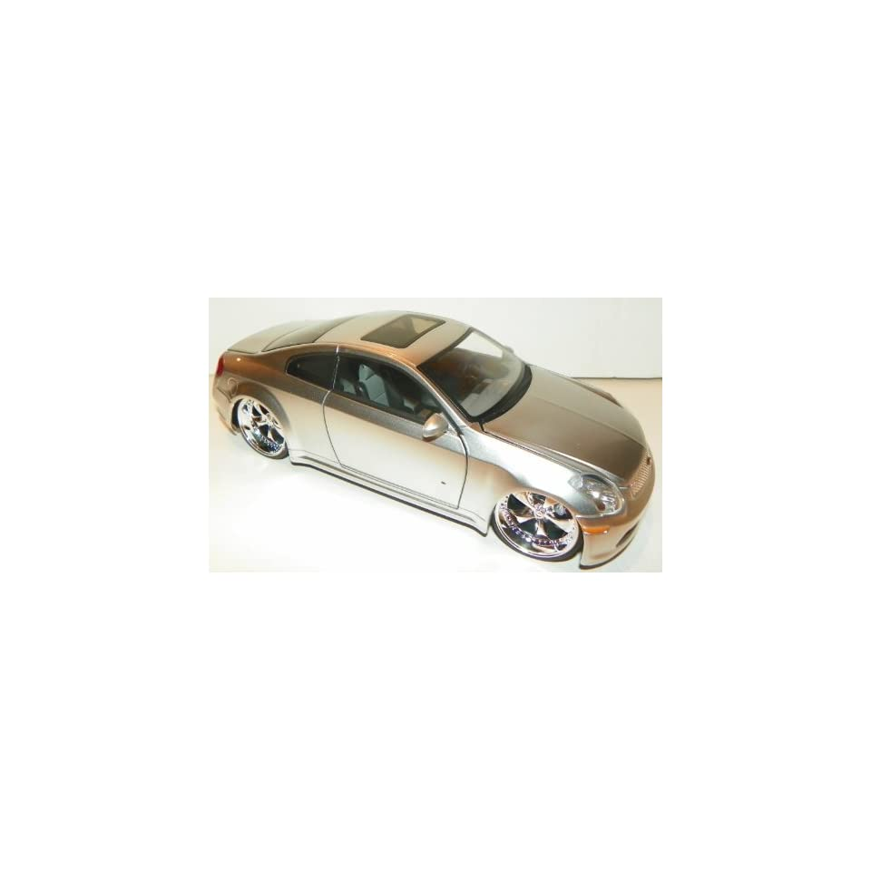 Jada Toys 1/24 Scale Diecast Dub City Infiniti G35 in Color Silver