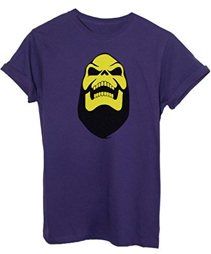 T-Shirt SKELETOR HE-MAN MASTERS - ANIME E VIDEOGAMES - by iMage - Uomo-M - Viola