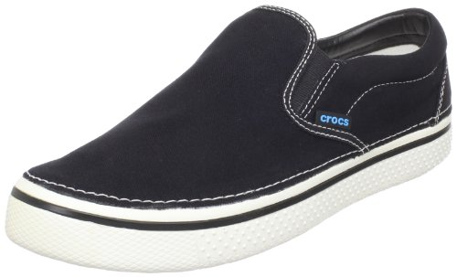 Crocs Unisex-Adult Hover Slip On Fashion Trainer Black/White 11291-066-184 7 UK