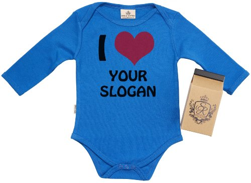 Sr - Personalised I Love Your Slogan Baby Baby Grow 12-18M Blue In Milk Carton front-862934