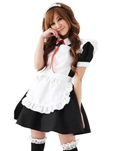 Amour-Neu Sexy Lolita Maid Dienstmädchen Kostüm Karneval Einheitsgröße passt für XS zu M