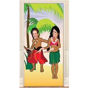 Amscan - Hula Dancing Luau Photo Door Banner - 1