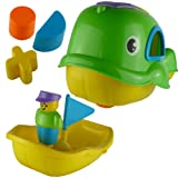 Push Along Shape Sorter Bath Toy - Willie The Whale (Yellow)
