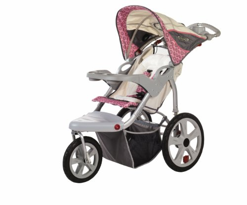 InStep Grand Safari Swivel Wheel Jogger, Tan/Pink