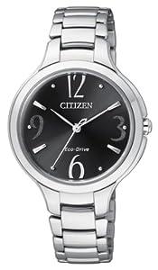 Citizen EP5990-50E - Reloj analógico de cuarzo para mujer, correa de acero inoxidable multicolor