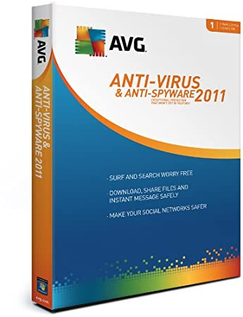 AVG Antivirus and Antispyware 1-User 2011 [Old Version]