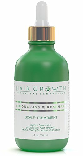 Hair Growth Lemongrass-Rosemary Lab Formulated Botanical Hair Recovery System Anti-DHT/Alopecia Organic 4 Oz (Organic Growth compare prices)