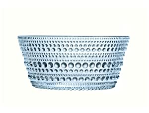 Iittala Kastehelmi Dew Drop 7-3/4-Ounce Glass Bowls, Light Blue, Set of 2