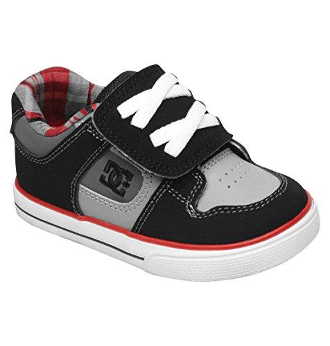 Dc Kids Pure V Sneaker (Toddler),Black/Grey/Red,6 M Us Toddler front-831822