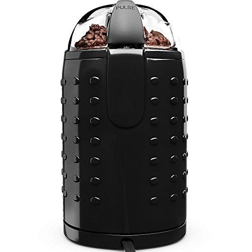Best Buy! #1 Best Mini Coffee Grinder 150W - Premium Steel Blades, Portable Handheld Electric - Blac...
