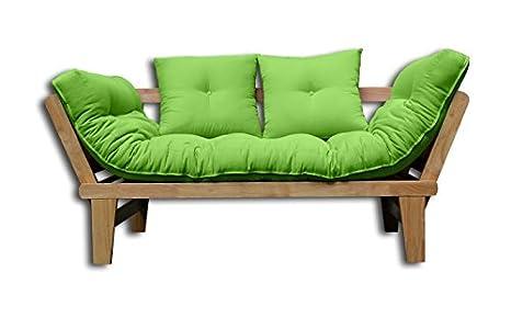 Sofá cama Sésamo-N-VE 200x82x32 cm