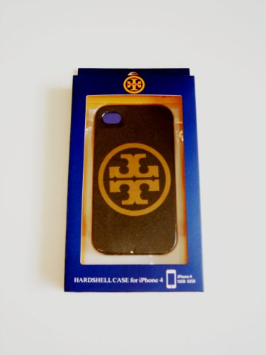 Tory Burch Hardshell Case Black-gloden Big Logo Protector Back Cover for Apple iphone 4/4s