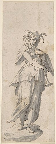 Female Figure with Horn Poster Print by Anonymous, Italian, 17th century (18 x 24)